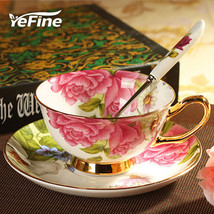 YeFine Top-quality Black Tea Coffee Cups Set Bone China - $35.95