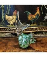 Vintage Murano Art Glass Modern Retro Chicken Hen Glass Sculpture - $79.95