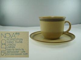 Studio Nova Homespun Sand Dune J7804 Cup & Saucer - $12.86