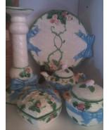 The Haldon Group Set Italy Vintage 1986 Plate Candleholder Cream Sugar T... - $75.00