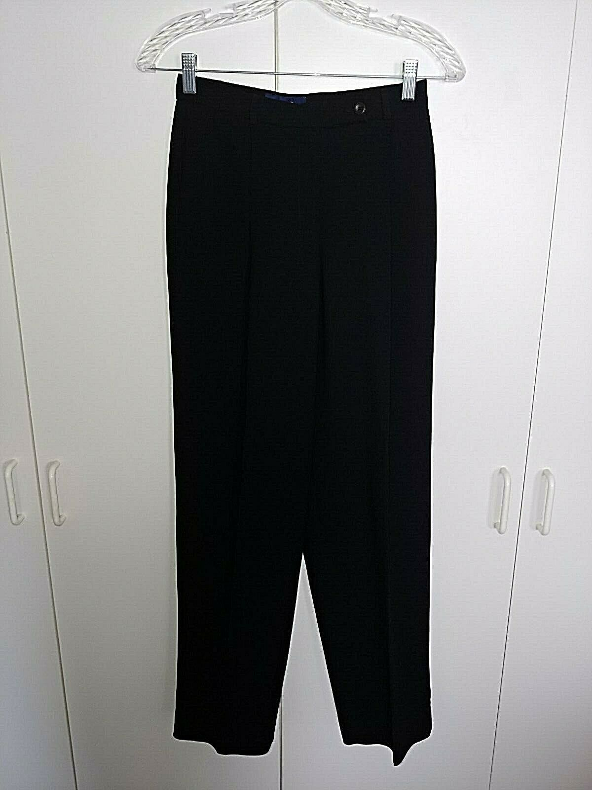 CHARTER CLUB LADIES BLACK LINED DRESS PANTS-4P-BARELY WORN-POLYESTER/ACETATE