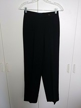 CHARTER CLUB LADIES BLACK LINED DRESS PANTS-4P-BARELY WORN-POLYESTER/ACE... - $14.00