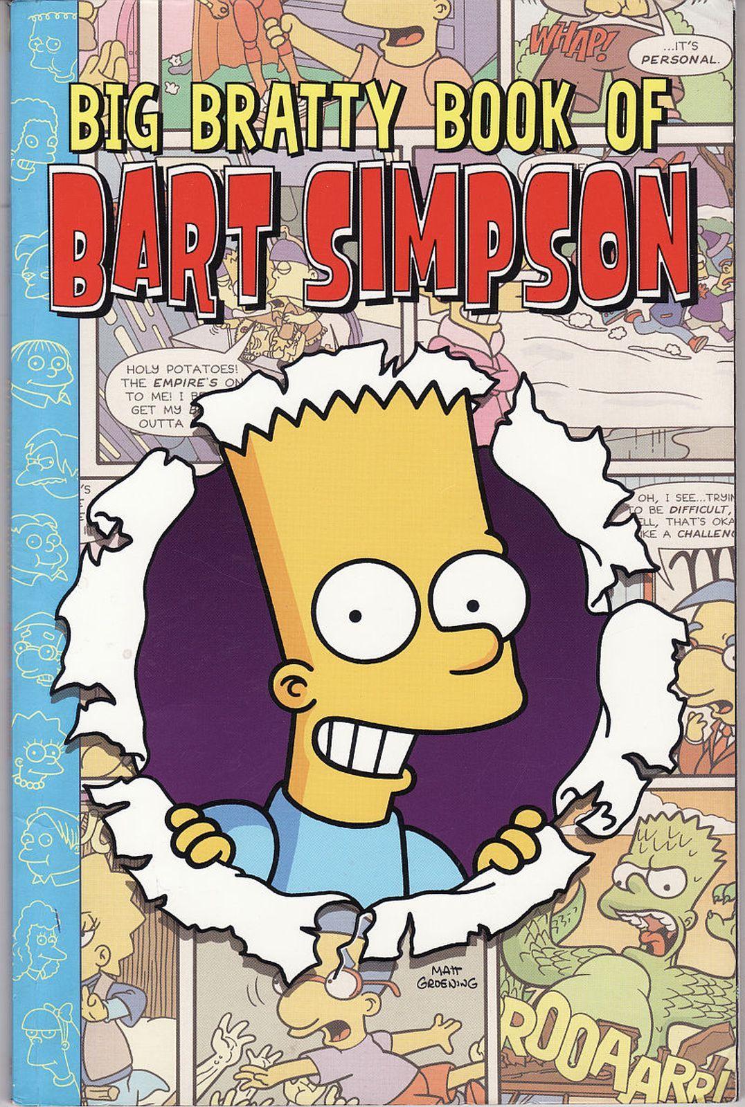 2004 Big Bratty Book Of Bart Simpson Comic Collection Matt Groening 1st Ed. PB