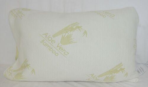 Unbranded B01BQR8Q Aloe Vera Bamboo Cover Shredded Memory Foam Pillow Queen Size