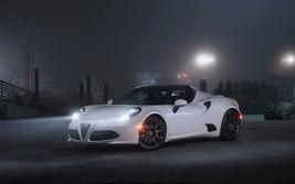 2016 Alfa Romeo 4c white 24X36 inch poster, sports car - $18.99