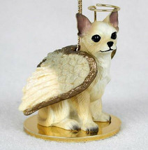 CHIHUAHUA (TAN WHITE) ANGEL DOG CHRISTMAS ORNAMENT HOLIDAY  Figurine Statue - $14.99