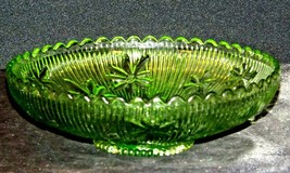 Green Candy Floral Dish Depression Glass AA19-CD0026 Vintage image 2