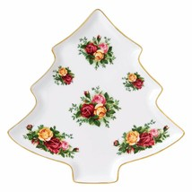 "Royal Albert Old Country Roses Christmas Tree Tray NEW IN THE BOX (s) 10.7"" - $46.74"
