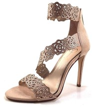 Jessica Simpson Geela Powder Blush Suede Stiletto Dress Embellished Sandals - $87.20