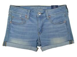 American Eagle Women's Denim SuperSuperX Midi Short, Medium Blue, Sz US:4 6075-7 - $39.55