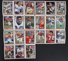 1991 Topps Denver Broncos Team Set of 21 Football Cards Missing 2 Cards - $4.00