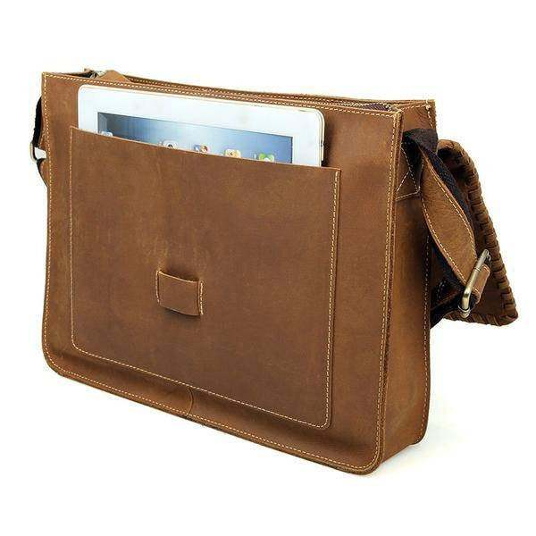 Sale, Vintage Messenger Bag, Leather Messenger Bag, Men's Fossil Messenger Bag image 6