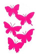 mixed 5 pack butterflies stickers/decals quality art decals,vinyl, fun car/truck