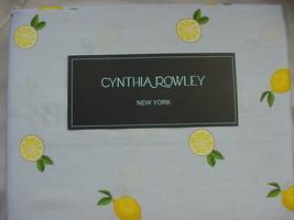 Cynthia Rowley Lemons on Light Blue Cotton Sheet Set Queen - $88.00