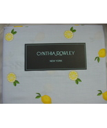 Cynthia Rowley Lemons on Light Blue Cotton Sheet Set Queen - $88.00