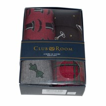 Club Room Men's Socks 4-Pair Value Pack Gentleman Tux Cocktails Xmas Gif... - $9.60