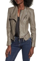 Motorcycle leather jacket women's Genuine Lambskin Biker Slim Fashion Ou... - $129.49
