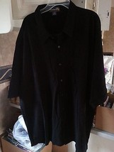 3xl   XXXL CATALINA BAY Men's Casual Shirt  BLACK button down  NEW - $5.69