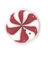 Med Peppermint Swirl nh1067m handmade clay button JABC Just Another Butt... - $1.80
