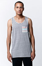 MEN'S GUYS On The Byas Armon Pocket Longline Tank Top GRAY NEW $22 - €14,52 EUR