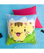 [Kitty Meow]Embroidered Pillow Cushion19.7 by 19.7 inches - $33.99