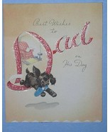 FATHER'S DAY GREETING CARD VINTAGE 1948 SCRAPBOOKING - $9.99