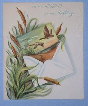 FORGET ME NOT BIRTHDAY CARD VINTAGE 1948 SCRAPBOOKING - $9.99