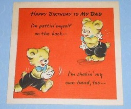HALLMARK BIRTHDAY GREETING CARD VINTAGE 1946 - $9.99
