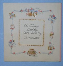 HALLMARK BIRTHDAY GREETING CARD VINTAGE 1943 SCRAPBOOK - $9.99