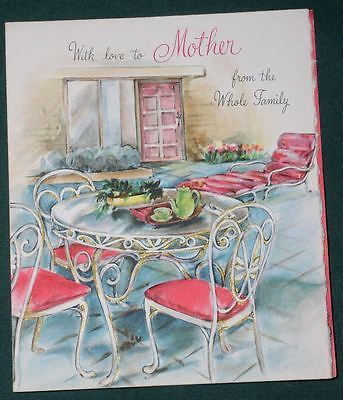 HALLMARK MOTHER'S DAY GREETING CARD VINTAGE 1940'S