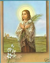 "Catholic Print Picture St. Maria Goretti Patron Purity 8x10"" from Italy - $14.01"