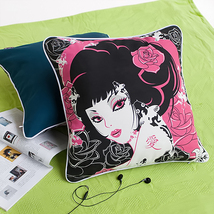 [Oriental Love]Cotton Pillow Cushion 19.7 by 19.7 inches - £23.07 GBP
