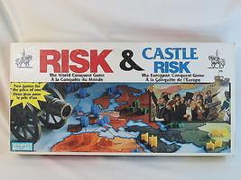 Risk & Castle Risk 1992 Board Game Parker Brothers 100% Complete EUC Bil... - $26.61