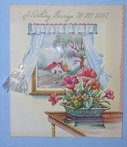 VINTAGE BIRTHDAY GREETING CARD 1940'S SCRAPBOOKING - $9.99