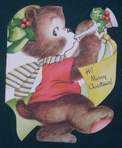 VINTAGE CHRISTMAS GREETING CARD 1940'S SCRAPBOOKING - $9.99