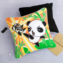 [Kung Fu Panda]Embroidered Pillow Cushion 19.7 by 19.7 inches - $33.99