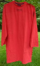 RALPH RALPH LAUREN Men's Red LS Long Jersey Knit Shirt Front Logo Cotton... - $37.39