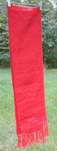 "ALPACA CAMARGO Red Fuzzy Scarf Fringed and Embroidered words ""Alpaca Cam... - £19.95 GBP"