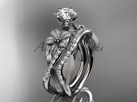 Platinum  diamond  engagement set with a Moissanite center stone ADLR221S - $3,200.00