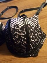 Victorias Secret Scandalous Sexy Faux Leather Balconet Bra 32d Bombshell... - $22.77