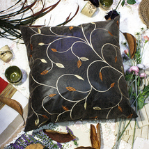 [Chocolate Gold Vine]Decorative Cushion 23.6 by 23.6 inches - $39.99