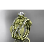 14kt yellow gold diamond fengagement ring and double matching band ADLR221S - $2,775.00