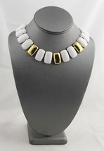 80's VINTAGE Jewelry NAPIER Signed EGYPTIAN REVIVAL Metal COLLAR NECKLACE - $25.00