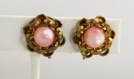 VINTAGE ANTIQUE Jewelry ART DECO EARLY 1900s PINK MOONSTON PLASTIC KNOT ... - $22.00