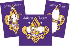 PERSONALIZED LSU TIGERS COLLEGE FOOTBALL LIGHT SWITCH PLATE COVER - $9.25+