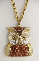 FASHION JEWELRY Chunky FIGURAL OWL PENDANT NECKLACE - $55.00