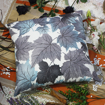 [Blue Maple Leaf]Decorative Cushion 23.6 by 23.6 inches - $39.99