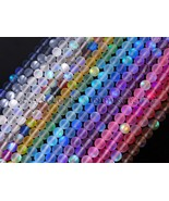 Czech Crystal Glass Aurore Boreale Round Beads 6mm 8mm 10mm 12mm Matte F... - $4.65+