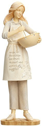 Enesco Foundations by Karen Hahn Cooking Friendship Figurine, 7.68-Inch [Misc.]