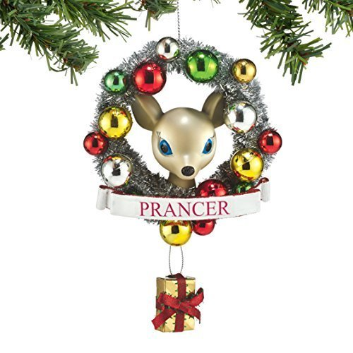 Department 56 Reindeer Tales Prancer Wreath Ornament [Misc.]